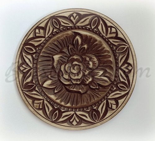 Carved wood plate