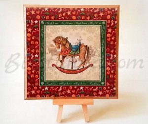 "Wooden board ""Fairytale Christmas """