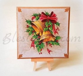 "Wooden board ""Christmas bells """