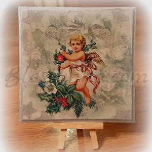 "Wooden board ""Christmas angel"""