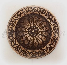 "Carved wood plate ""Flower"""