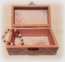 "The wooden jewellery box ""Ashes of roses"""