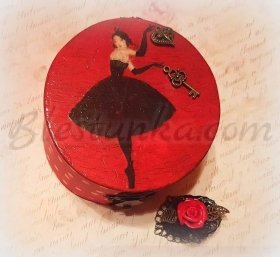 "Wooden treasures box ""Boudoir"""