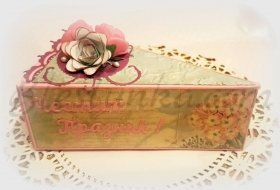"Box ""Piece of cake"" with Rose"