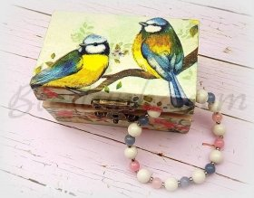 "Small wooden jewellery box ""Spring"""