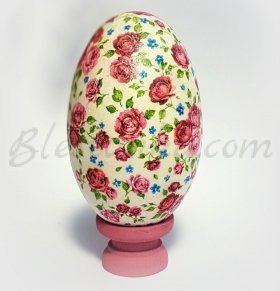 "Decorative ceramic egg ""Roses"""