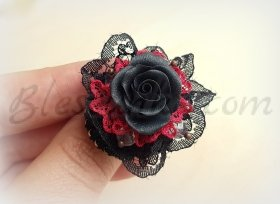 "Ring ""Graphite color rose"""