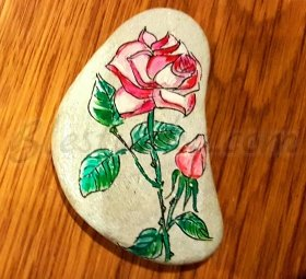 "Decorated stone ""Rose"""