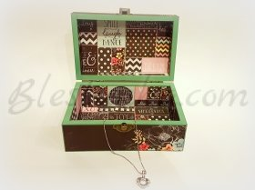 "The wooden jewellery box ""Colorful"""