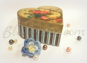 "Wooden jewellery box ""Spring color"""