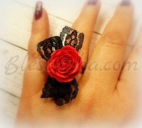 "Ring ""Red rose"""