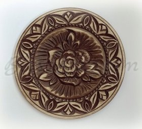 "Carved wood plate ""Rose """