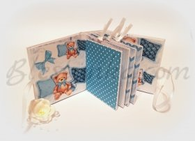 "Baby`s Treasures Box ""Sweet baby and bears"" in blue"