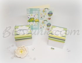 "Baby`s Treasures Box ""Sweet baby"" in green"