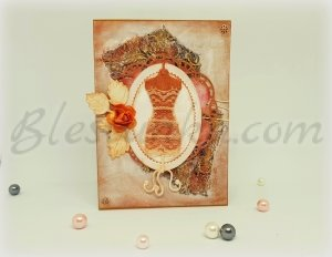 "Greeting invitation card ""A lace dress"""