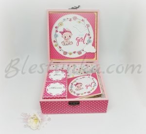 "Baby`s Treasures Box ""Sweet baby"" in pink"