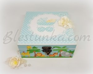 "Baby`s Treasures Box ""Sweet baby"" - boy"