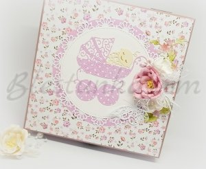 "Baby`s Treasures Box ""Sweet baby"" - violet"