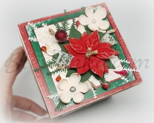 "Surprise exploding box ""Poinsettia"""