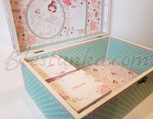 "Baby`s Treasures Box ""The girl with the flowers"""