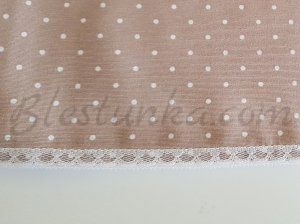 "Table runner ""Cream dots"""