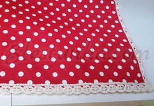 "Table runner ""Red dots"""
