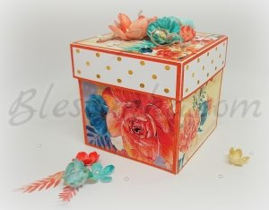 "Surprise exploding box ""Tenderness"""