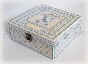 "Baby`s Treasures Box ""Little elephant"""