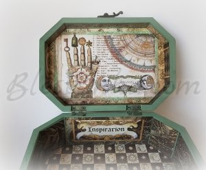 "Wooden treasure box ""Inspiration"""