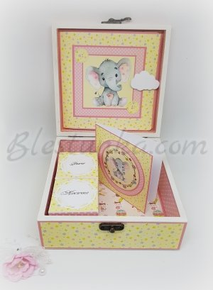 "Baby`s Treasures Box ""Little elephant"": girl"