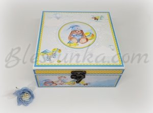 "Baby`s Treasures Box ""Blue bunny"""