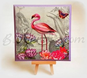 "Wooden board ""Flamingo"""