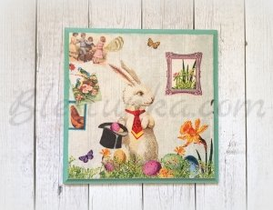 "Wooden board ""Easter Bunny"""