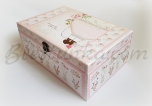 "Baby`s Treasures Box ""Balloon ride"" girl - big"