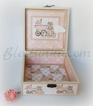 "Baby`s Memories Box ""Little bear"" - girl"