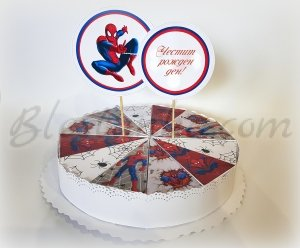 "Paper cake ""The spider"""