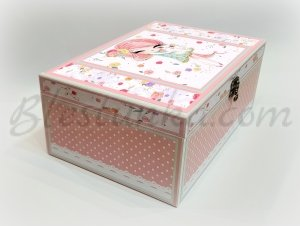 "Baby`s Memories Box ""The girl with the rabbit"" - big"